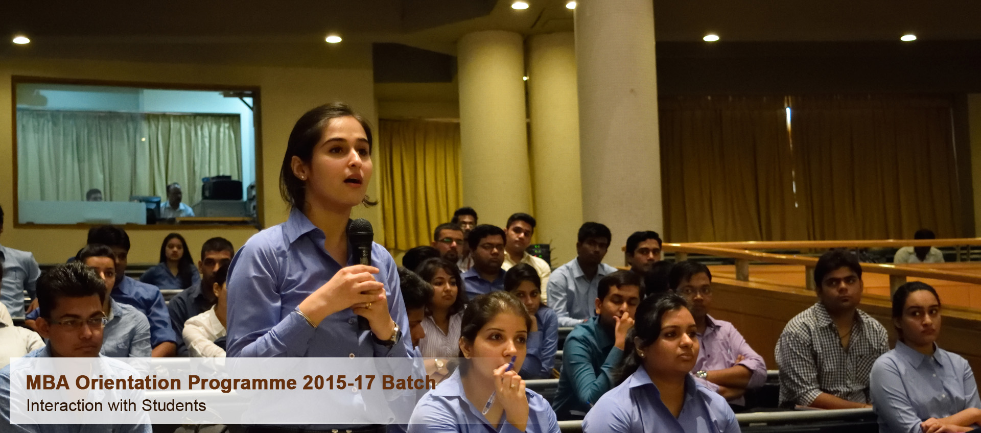 MBA Orientation Programme 2015 - 17 Batch - Interaction with Students
